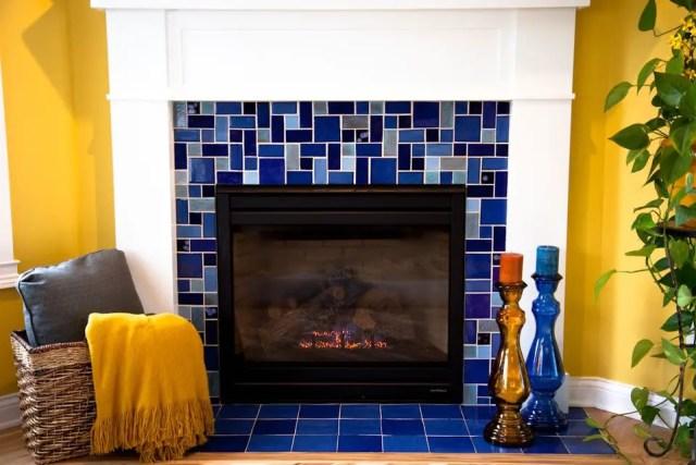 Tiled fireplace design ideas 5