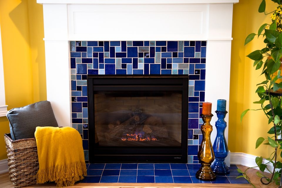 Tiled fireplace design ideas 5