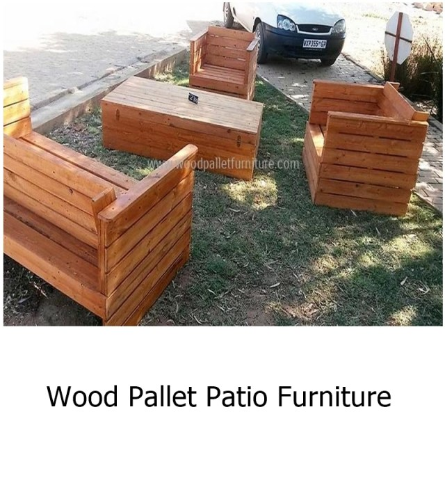 Wood pallet patio furniture 1