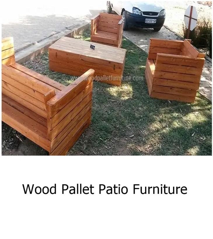 Wood pallet patio furniture 1