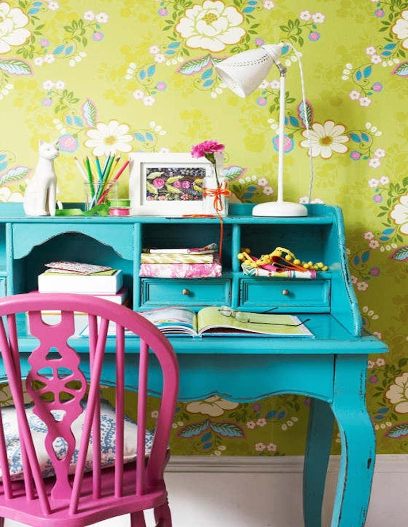 Colorful home office design ideas to brighten up your mood 8