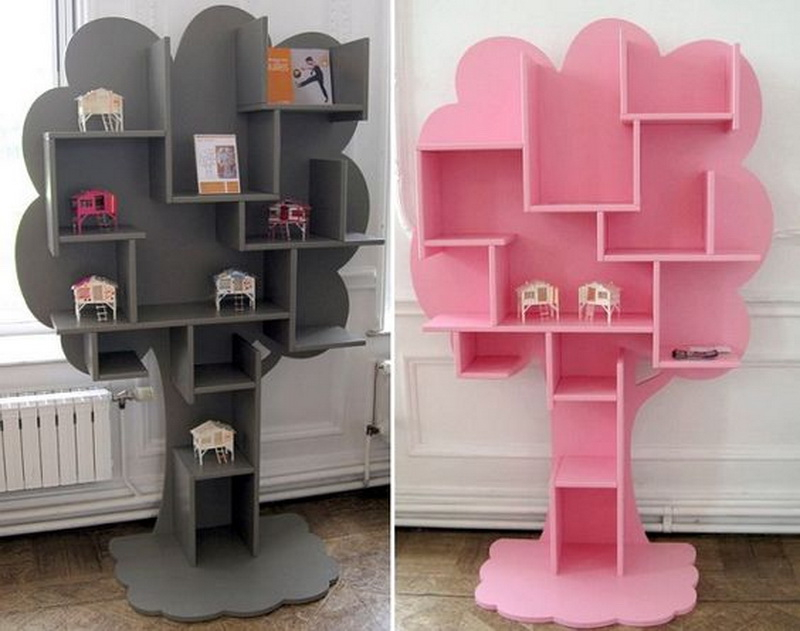 10. cute tree shelves