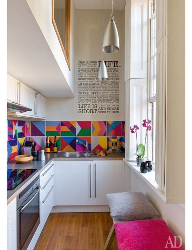 2. colorful modern kitchen
