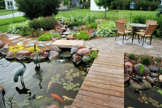 Adding bridge to your pond