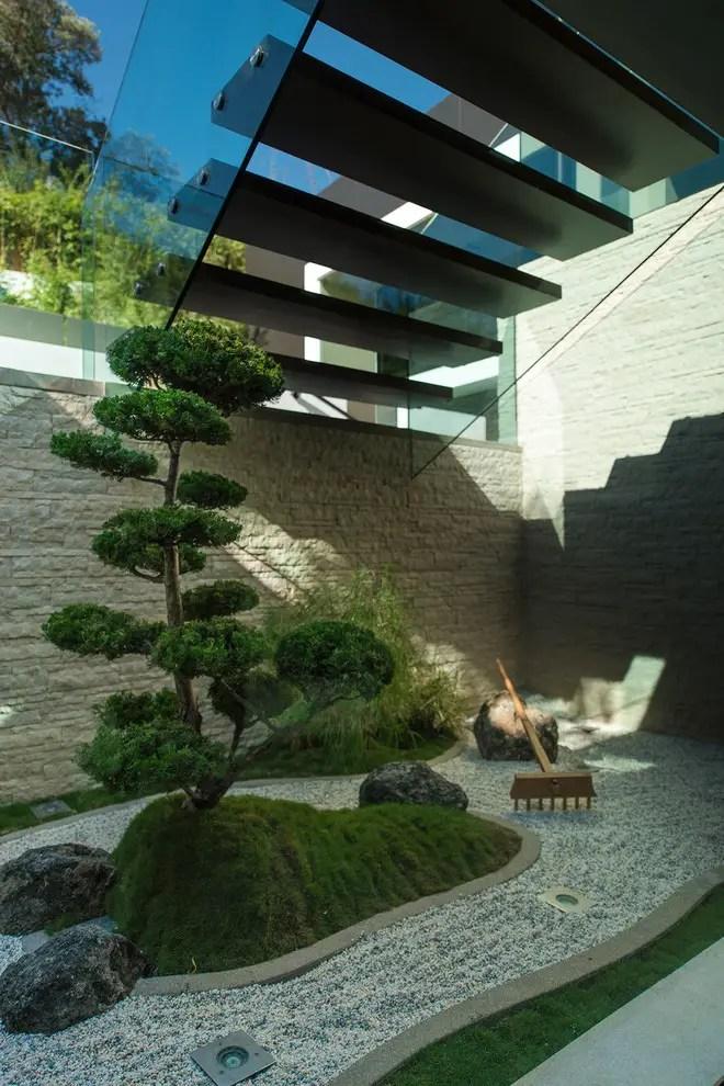 Elegant japanese garden