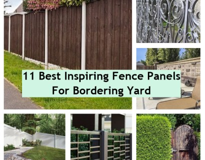 Fence panels for bordering yard