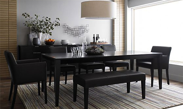 Glossy black finish wooden table