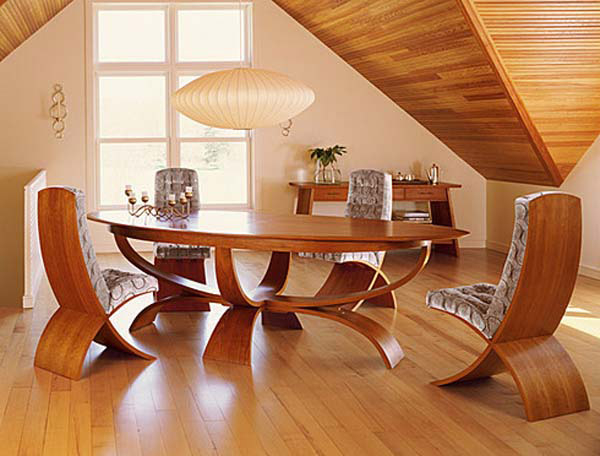 Modern wooden table