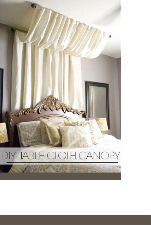 Table cloth canopy