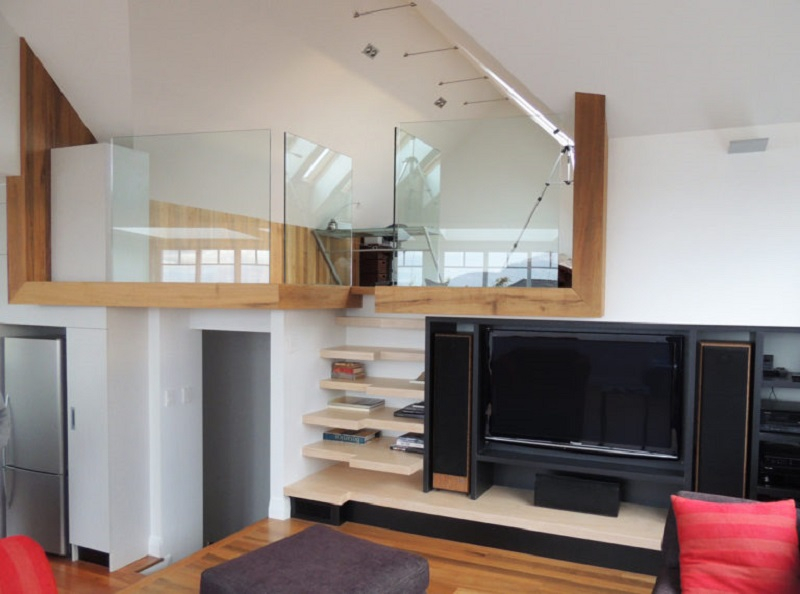 Built-in-stairs-tv-shelf