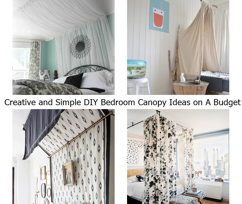 Creative and Simple DIY Bedroom Canopy Ideas on A Budget