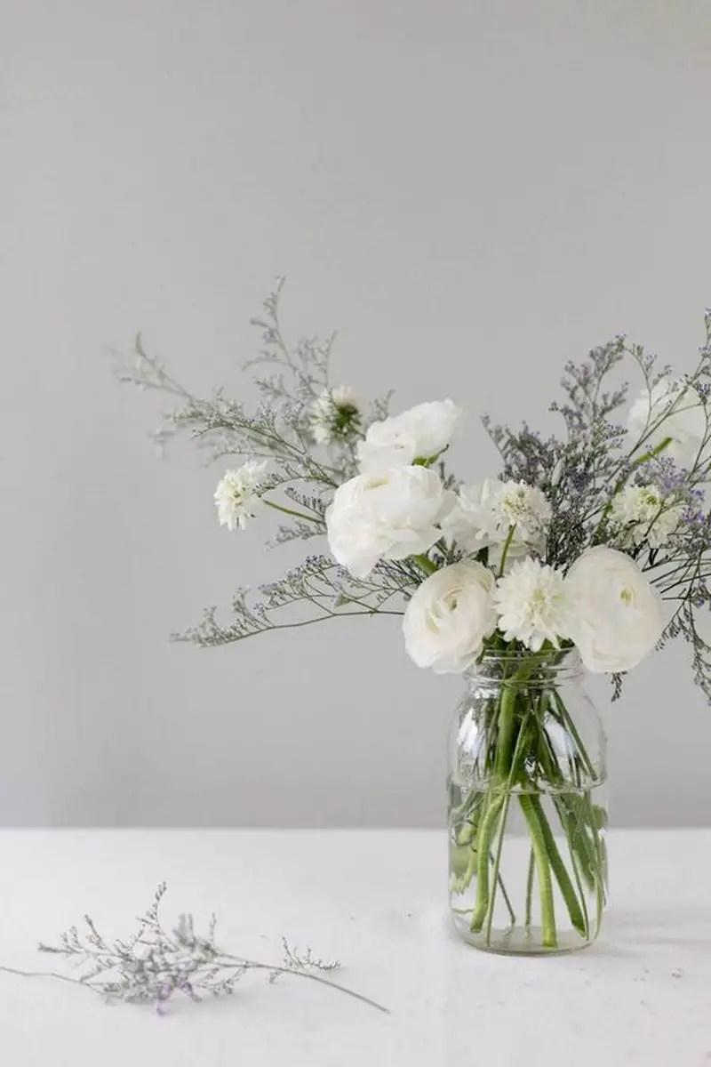 1. fresh cut flower in jar