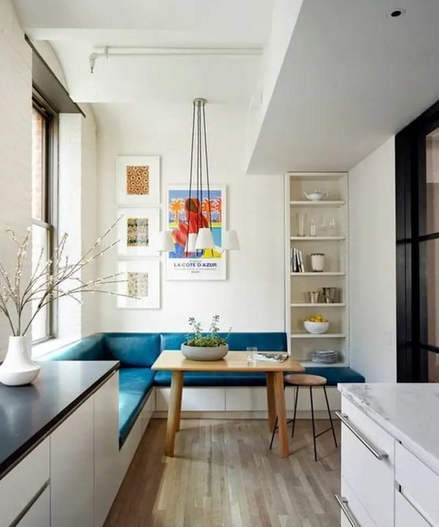 2. a small shelf on the corner