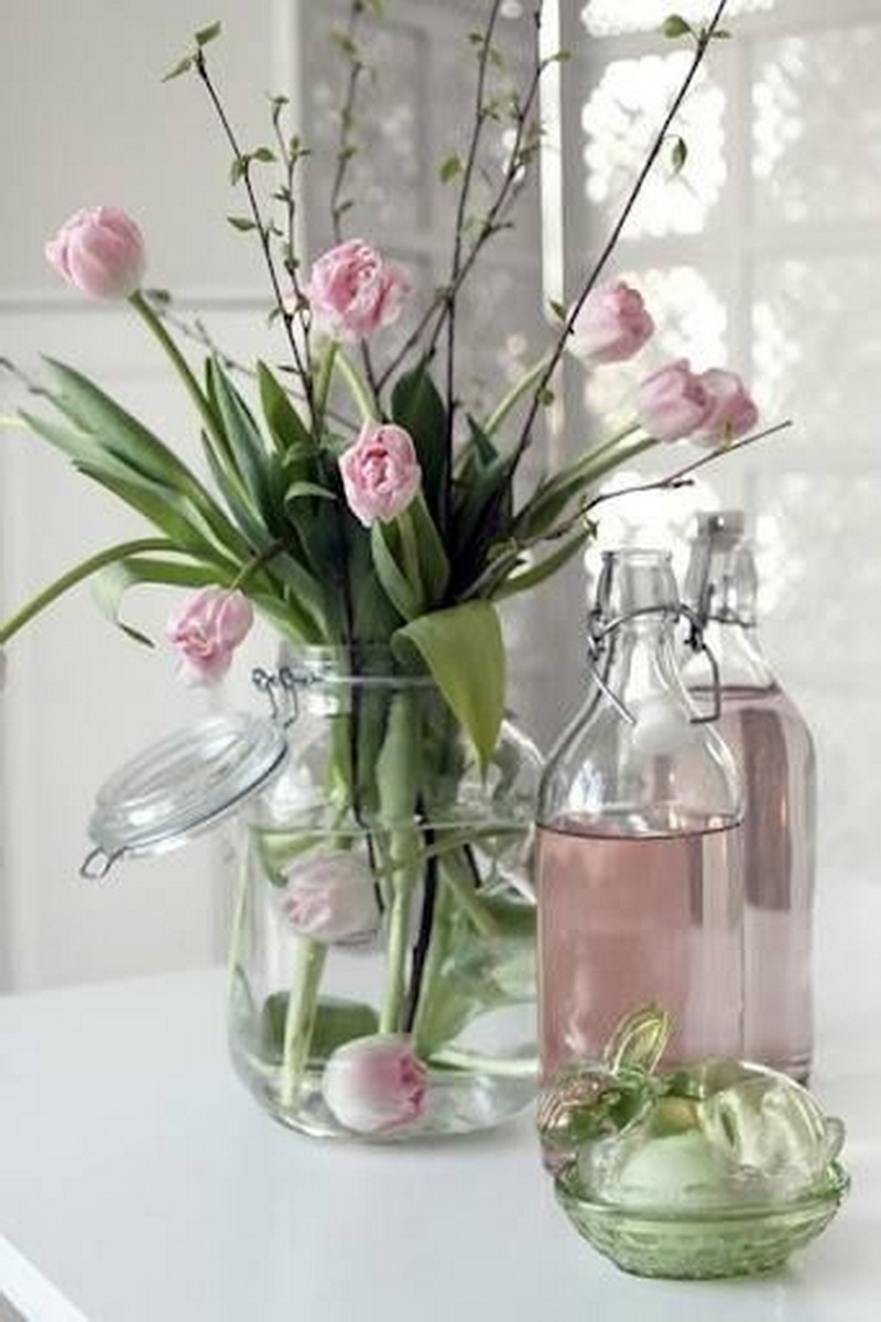 2. pink tulip and the water