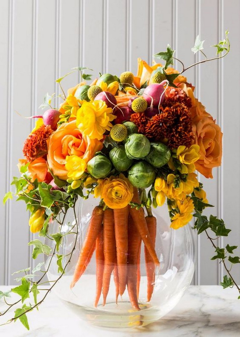 3. carrot centerpiece