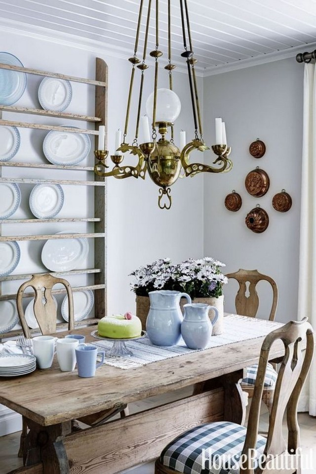 4. plate display on the wall