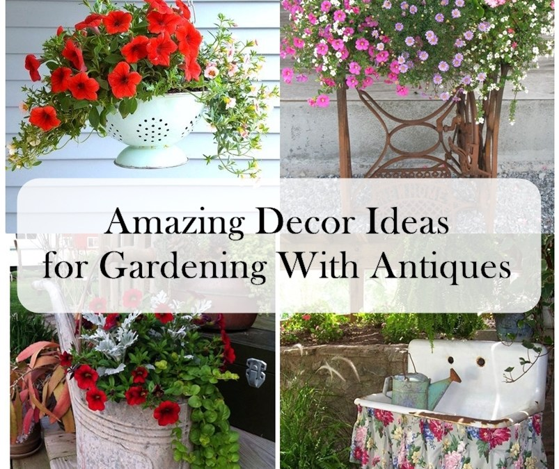 Amazing Decor Ideas for Gardening With Antiques