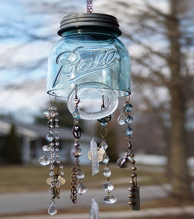 Mason jar spring decoration 3
