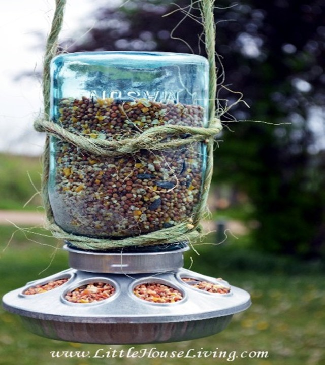 Mason jar spring decoration 4