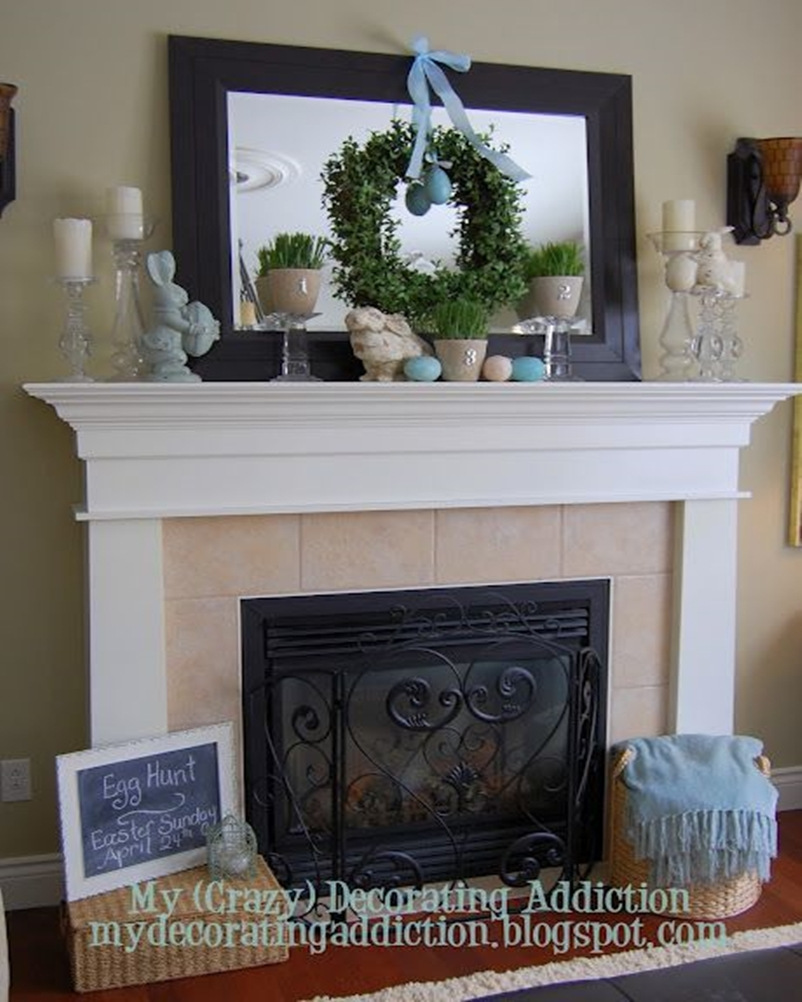 Spring mantel ideas 1