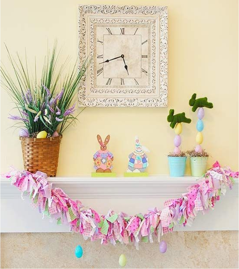 Spring mantel ideas 2