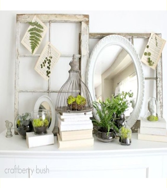 Spring mantel ideas 6