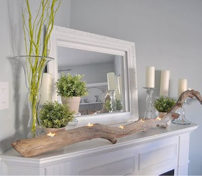 Spring mantel ideas 7