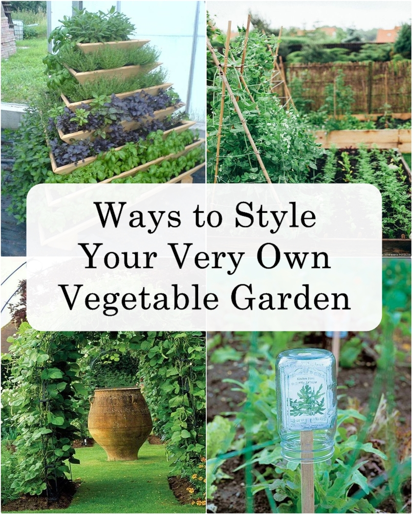 Ways to Style Your Very Own Vegetable Garden - Matchness.com