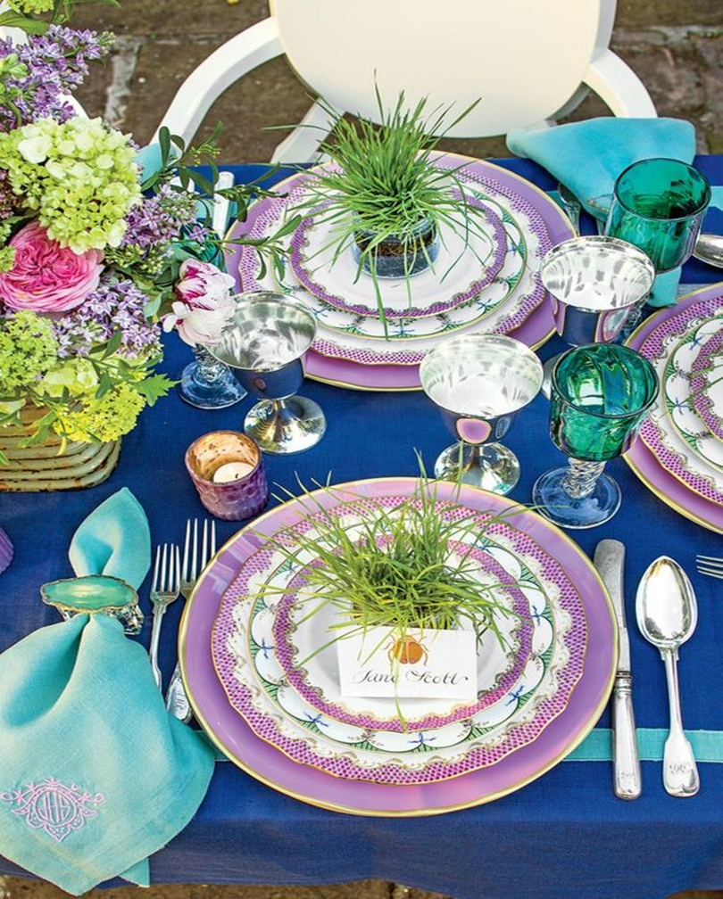 Spring table setting 5