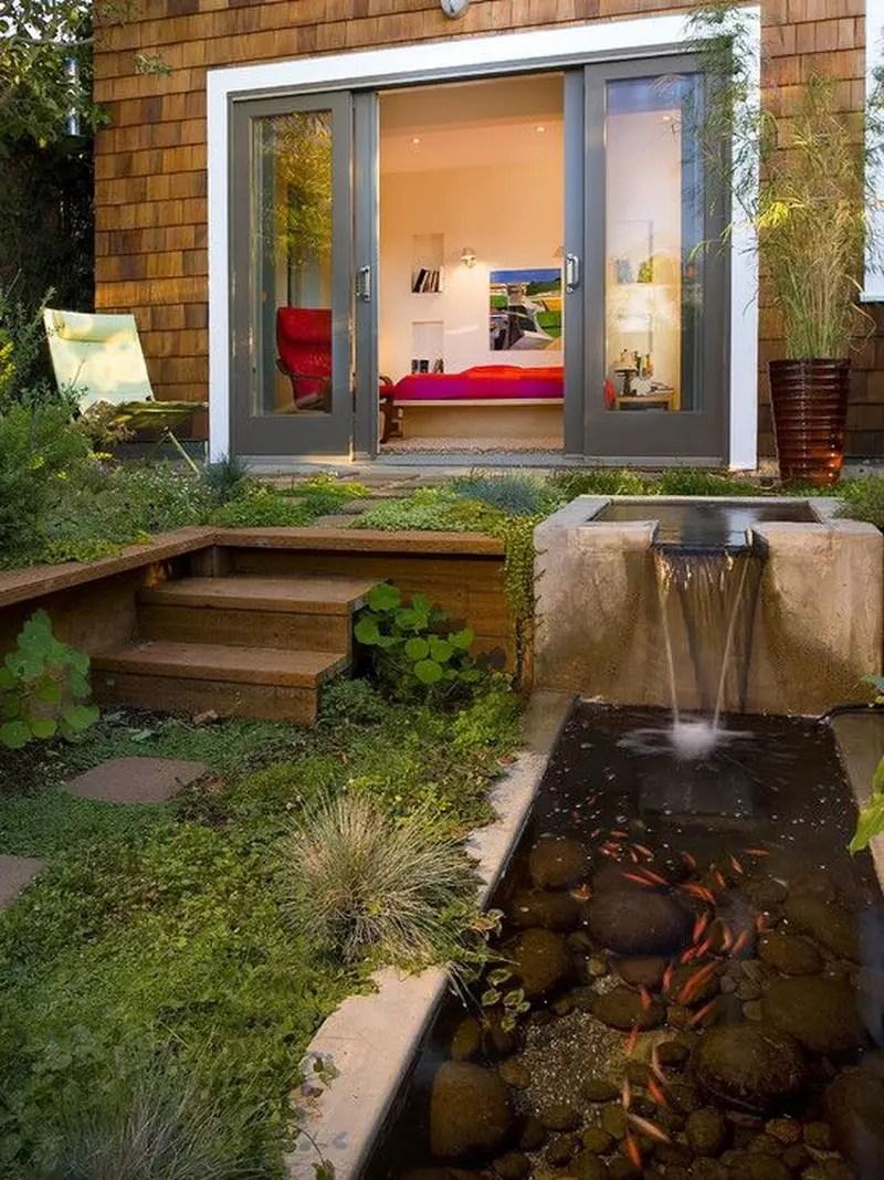 2. lower backyard and pond