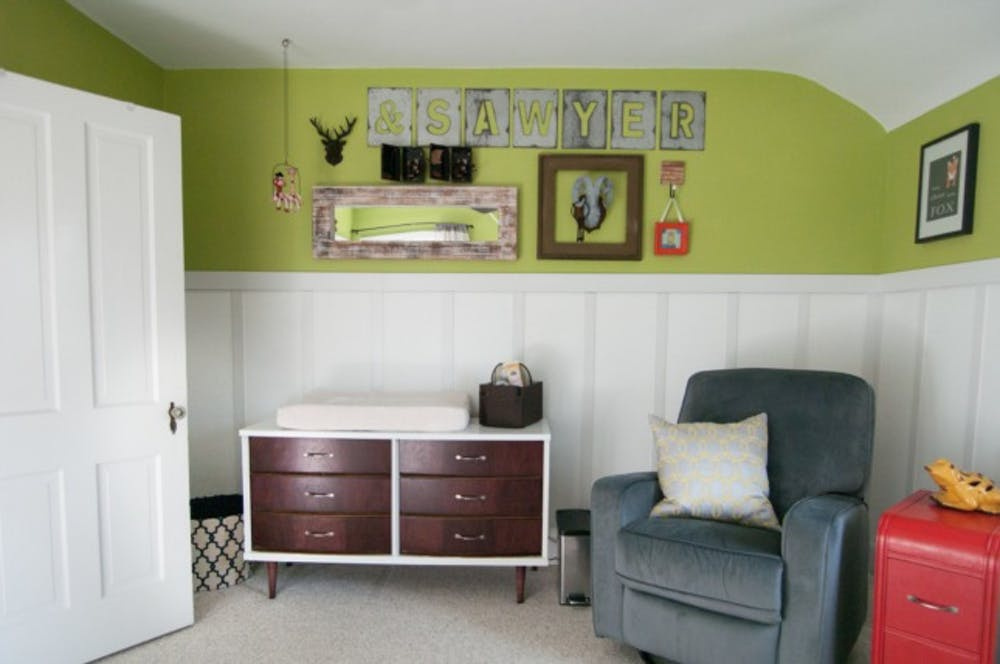 A bright half-wall feature