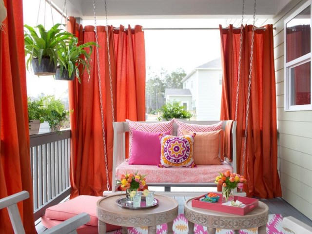 Curtains privacy screen