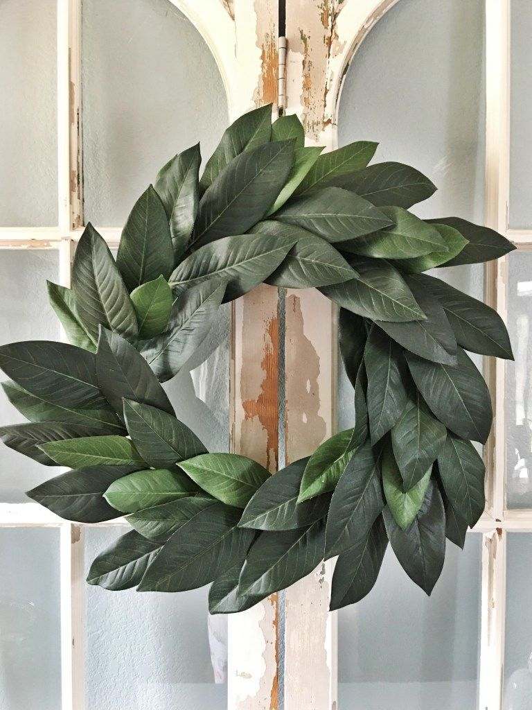 Diy 'fixer upper' magnolia wreath