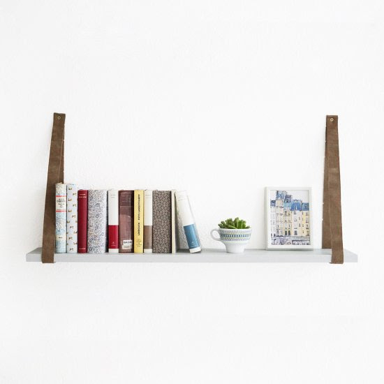 Diy hanging belt shelf