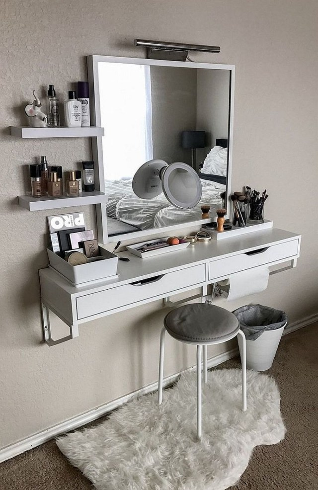 Small-floating-makeup-vanity