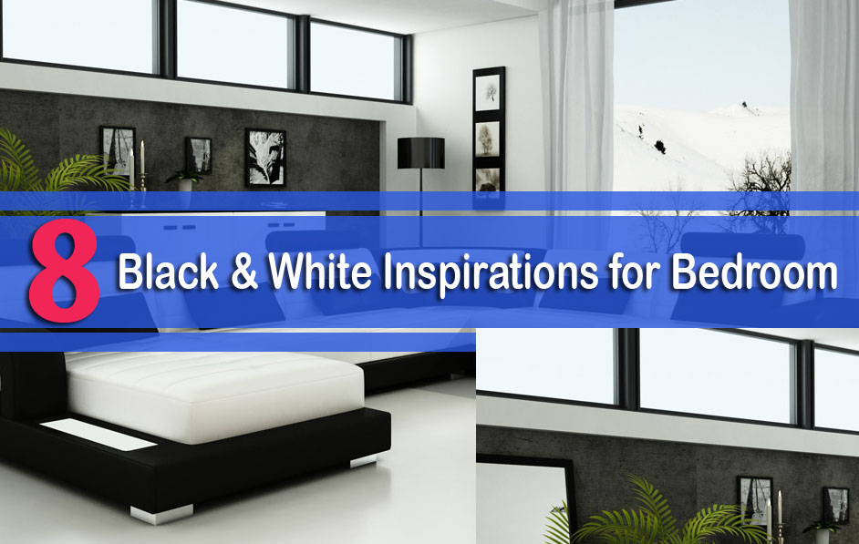 8 Black & White Inspirations for Bedroom