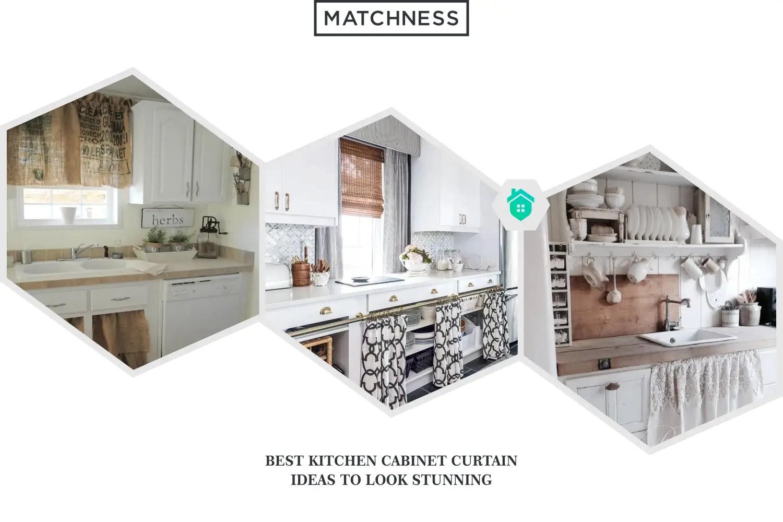 10 Best Kitchen Cabinet Curtain Ideas To Look Stunning Matchness Com