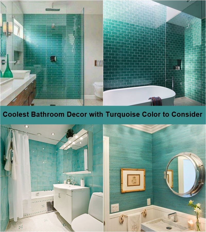 Coolest bathroom decor with turquoise color to consider