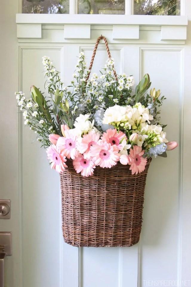 Fresh floral door display