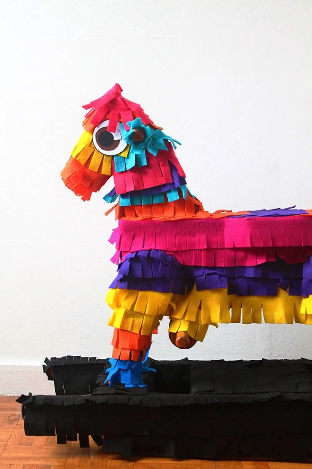 Piñata rocking horse