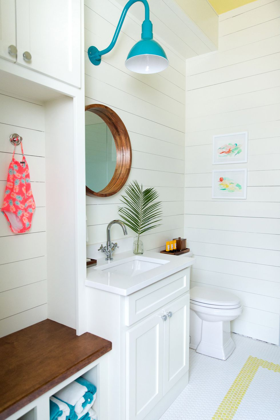 Pool house bathroom
