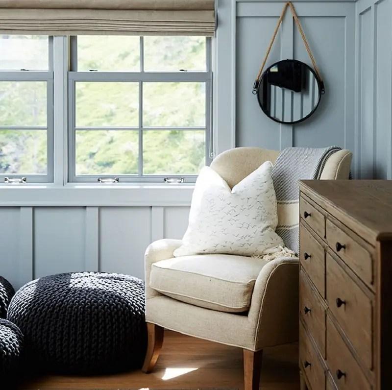 Seating nook in bedroom