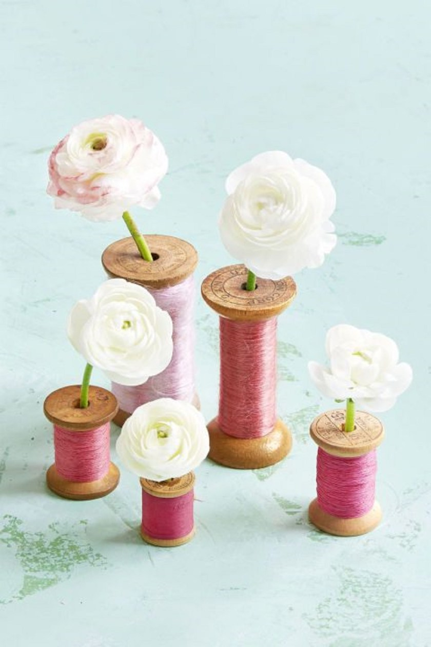 Simple spool centerpiece