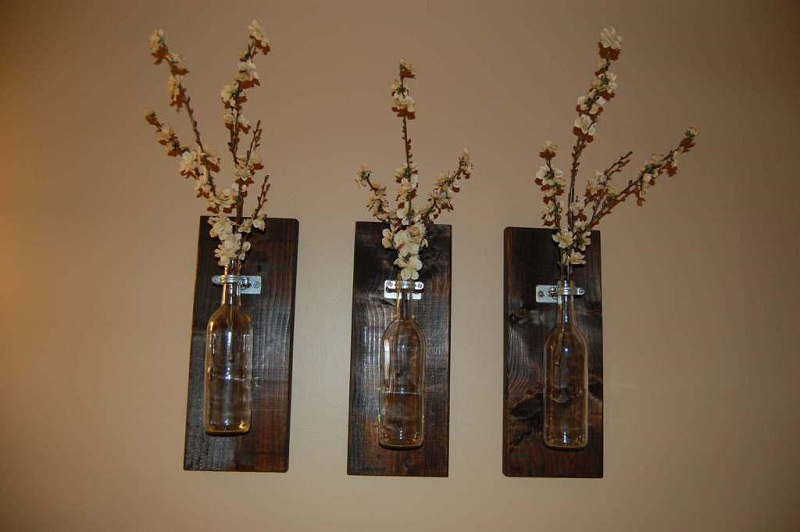 Wood with bootle wall-art-decor-style