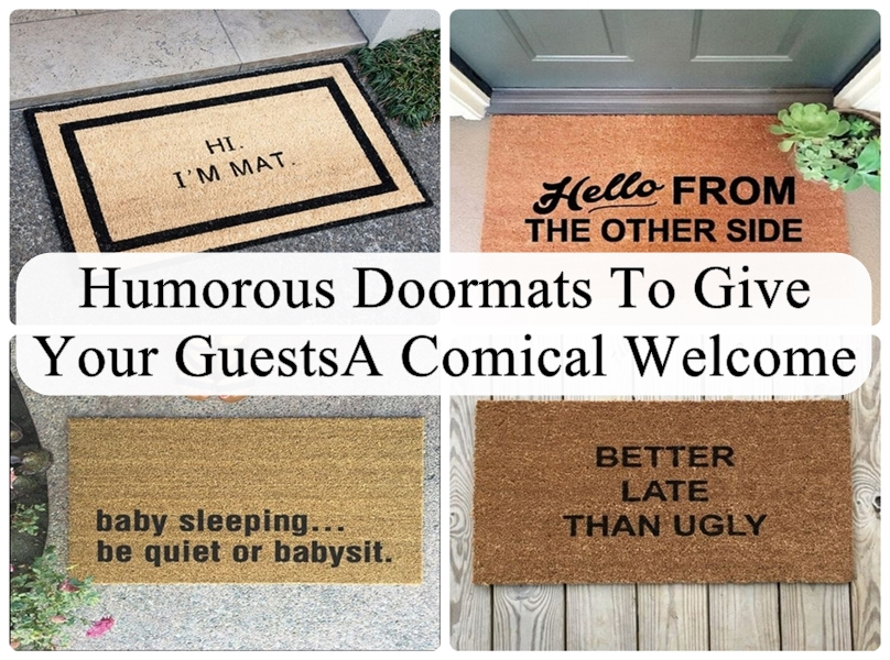 Humorous Doormats To Give Your Guests A Comical Welcome