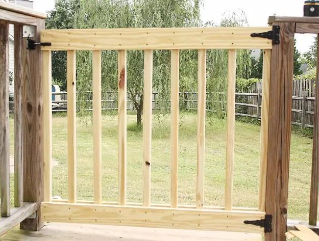 Diy deck stair gate