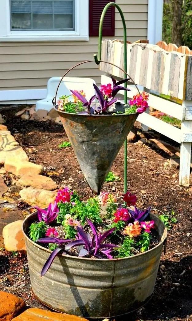 Vintage container gardening