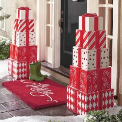 Adorable christmas porch décoration ideas 08
