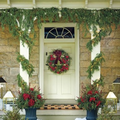 Adorable christmas porch décoration ideas 16