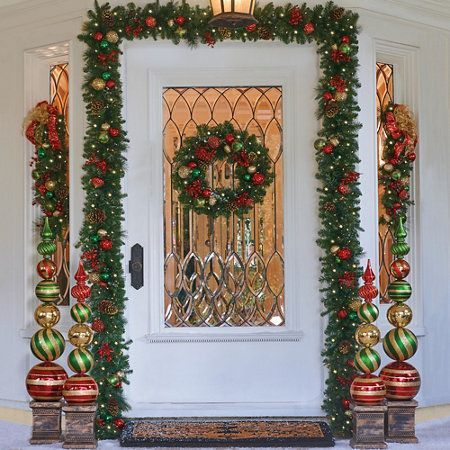 Adorable christmas porch décoration ideas 23